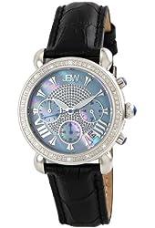 "JBW Women's JB-6210L-C ""Victory"" Blue Stainless Steel Leather Diamond Watch"