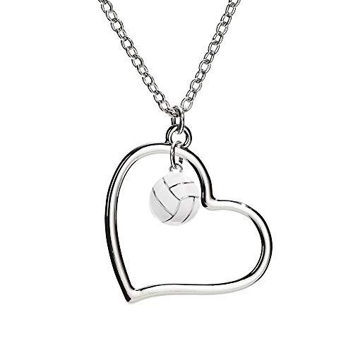 (GIMMEDAT Heart of Mine Volleyball Enamel Necklace | Lead & Nickel Free | Player or Fan Gift)