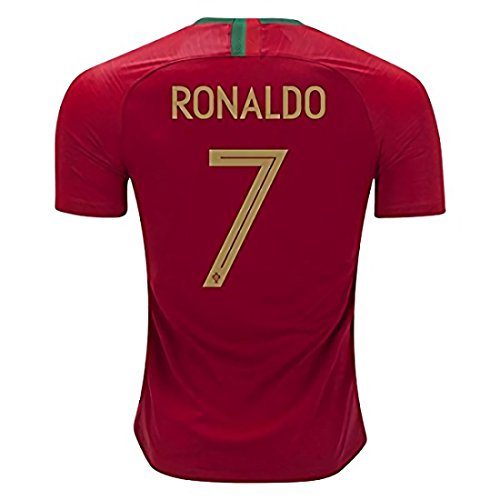 CampJuly 2018 World Cup Soccer Team Portugal C Ronaldo 7 Home Men's Jersey Color Red Size XL