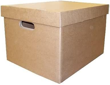 Smartbox 405 x 337 x 285 mm Archivo/Caja de almacenamiento con tapa – marrón (Pack de 10): Amazon.es: Oficina y papelería