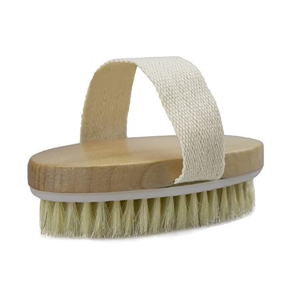 Natural bristle body brush