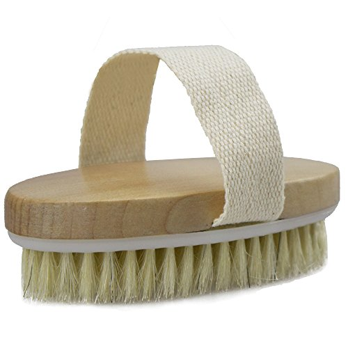 Dry Skin Body Brush - Improves Skin's Health and Beauty - Natural Bristle - Remove Dead Skin and Toxins, Cellulite Treatment, Improves Lymphatic Functions, Exfoliates, Stimulates Blood Circulation 8