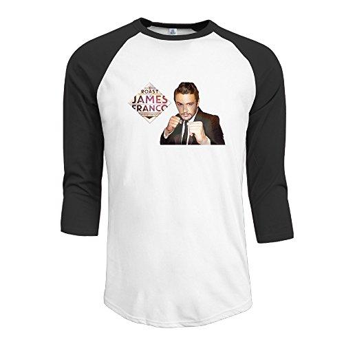 GYB HOME James Franco Raglan 3/4 Sleeve Slim Fit T-Shirt For Man