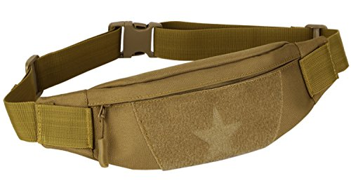 (ArcEnCiel Military Tactical Waist Pack For Men Fanny Pack Fishing Bags Army Money Belt Sport Travel Cycling Mobile Phone Pouch (Coyote Brown))