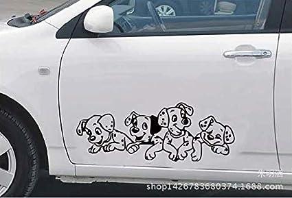 Autoaufkleber Aufkleber Fensteraufkleber Reflektierend Tieraufkleber des Welpen vier Aufkleber reflektierend schwarz CarBTSticker