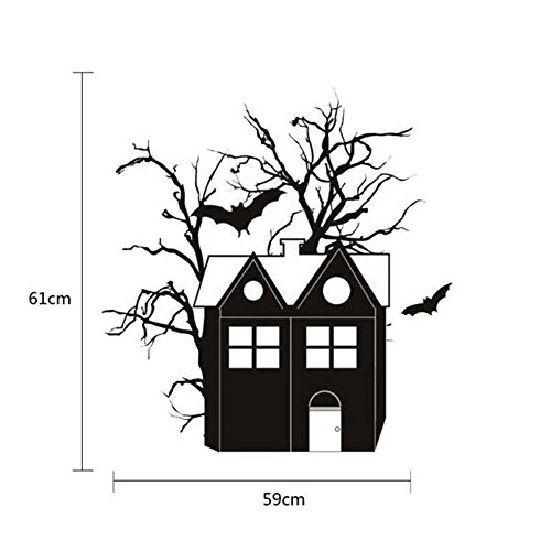Wall Stickers Happy Halloween Household Room Wall Sticker Mural Decor Decal Removable New Home Garden Kitchen Accessories Decorative Stickers Wall murals -