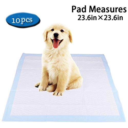Puppy Training Super Absorbent Dog Training Pet Pads (23.423.4inches, 10 (Natural Biodegradable Training Pads)