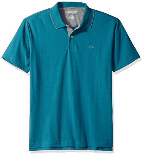 Dockers Men's Solid Signature Polo, Dragonfly, Small Dragonfly Clothing Embroidered Shirt