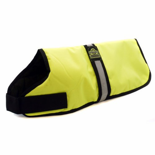 Outhwaites Pet Waterproof Padded Hi-Vis Coat Yellow 76Cm; 30 Inch