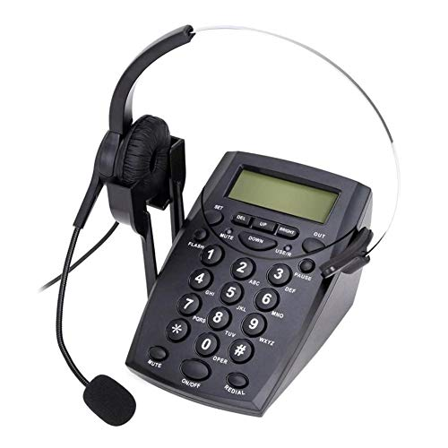 Rundaotong-US Desktop Telephone Headset Noise Canceling Microphone Dialpad, Corded Telephone Headset & Dialpad House Call Center Office Phone Sales, Insurance, Hospitals, Telecom Operators from Rundaotong-US