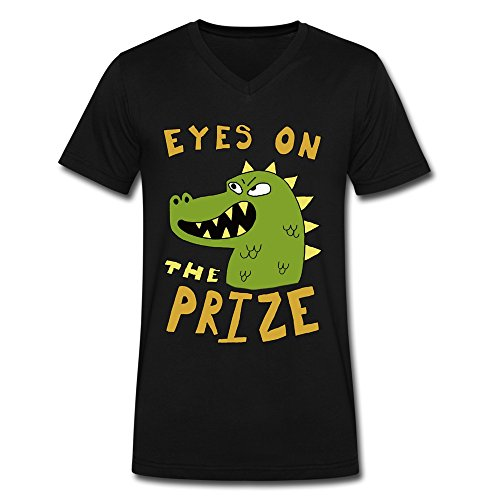 - XXL Bert Pandora Mens Dinosaur Eyes On The Prize V Neck Tshirts