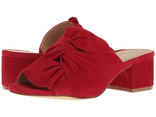 Chinese Laundry Women's Marlowe Rebel Red Kid Suede Sandal - Kid Suede Womens Sandals