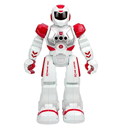RC Remote Control Robot With E-SCENERY Smart Action Infra-red Allows Gesture Control Dancing Singing Children Toy Kids Toy (red)