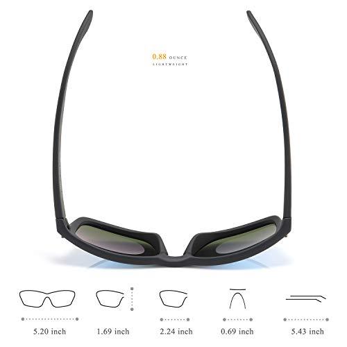 d83fa729cd Polarized Sunglasses for Men 100% UV Protection Wayfarer Sun Glasses for  Driving Men Clear Vision