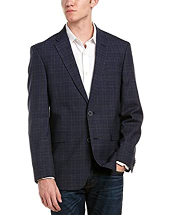 Tommy Hilfiger Modern Fit Navy Plaid Two Button New Men's Sport ...