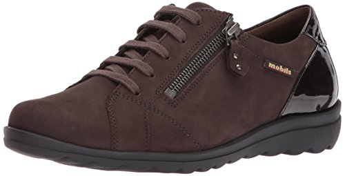 Mephisto Women's Camilia Oxford, Dark Brown Bucksoft/Patent, 7 M US ()