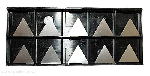 (RISHET TOOLS 11340 TPG 432 C5 Uncoated Bright Finish Solid Carbide Inserts (Pack of)