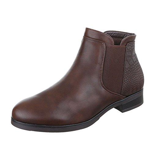 Ital-Design - Botas Chelsea Mujer marrón