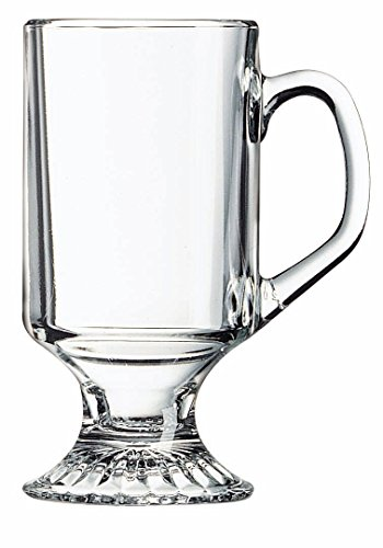 Arc International Luminarc Irish Footed Mug, 10-Ounce, Set of 4 (Glass Footed Mug)