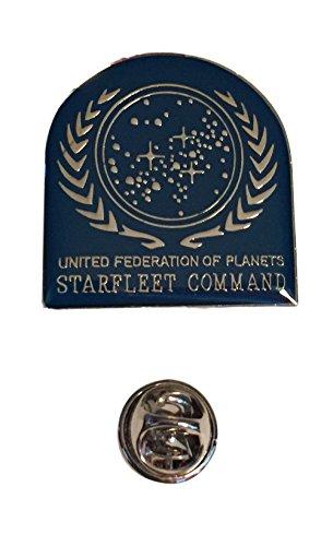 1988 Enamel (Star Trek TNG United Federation of Planets UFP Logo Enamel Metal Pin 1988)