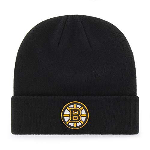 OTS NHL Boston Bruins Youth Raised Cuff Knit Cap, Team Color, Youth (Boston Bruins Pom Beanie)