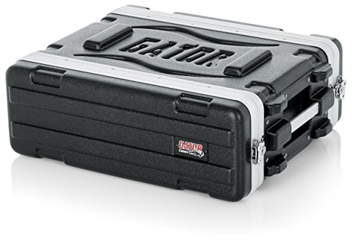 Gator Cases Lightweight Molded 3U Rack Case with Heavy Duty Latches; Shallow 14.25