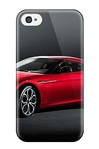 High Grade Amy Morrison Flexible Tpu Case For Iphone 4/4s - Aston Martin Zagato 7