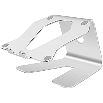 Elec3 Premium Aluminum Laptop Stand for Macbook/Macbook Pro/Macbook Air, Notebooks and Other Tablets - Up to 17 inches (Silver )