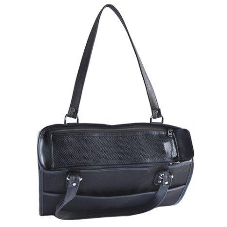 Petote Payton Dog Carrier Bag, Black by Petote
