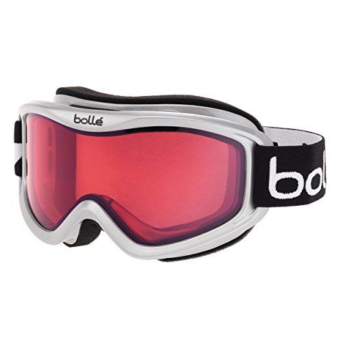 One Mens All Mountain Snowboard (Bolle Mojo Goggles, Shiny White, Vermillon)