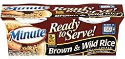 Minute Ready to Serve Brown & Wild Rice 2 - 4.4 Oz Cups (Pack of 4)