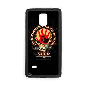 Custom Metal Band Five Finger Death Printing for SamSung Galaxy Note 4 Case