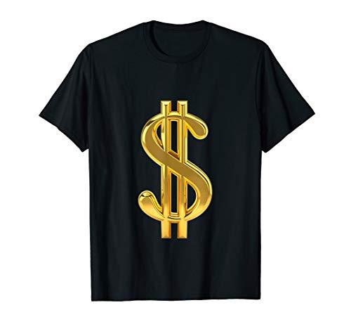 Metallic Gold Money Sign Dollar Bills Moolah T- Shirt