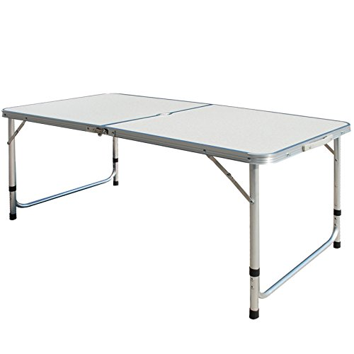 Nestling/® Folding Table 6FT 1.8M Camping Catering Heavy Duty Folding Trestle Table For BBQ Picnic Party with Carrying Handle