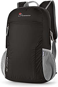 Mountaintop 25L Foldable backpack for men, women and children - as travel backpack, daypack, carry-on