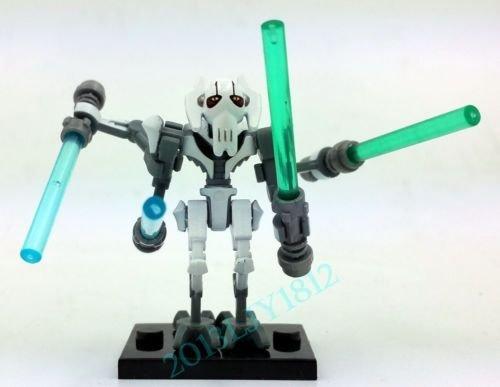 10 Pcs Set General Grievous White Minifigures Star Wars Lot Bricks Blocks Toy