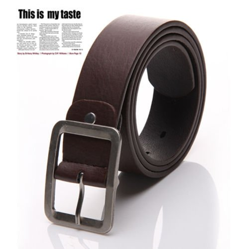 New Men's Casual Dress Faux Leather Belt Buckle Waist Strap Belts, 100% Brand new & high quality(Brown) - Brighton Braided Belt