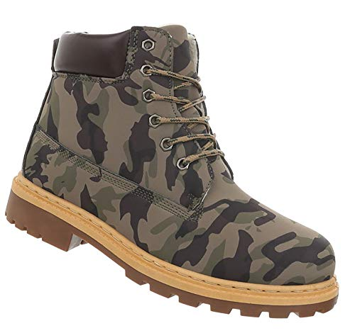41 Schuhe Schnürschuhe Herren Stiefelette Boots Khaki 46 ARdFx