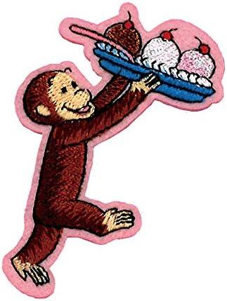 ミノダ おさるのジョージ ワッペン カップケーキ 小 U01Y1216