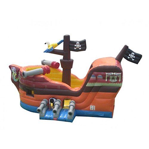 TentandTable Pirate Ship Bounce House Inflatable Moonwalk with Slide - Includes (1) 1.5 HP Zoom Blower and Free Shipping