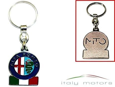 Alfa Romeo llavero Logo Tricolore