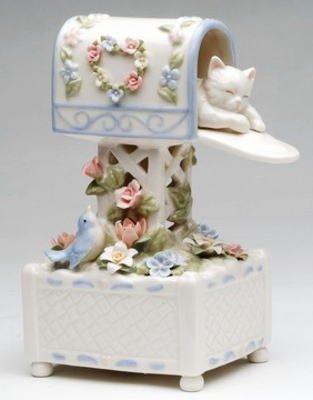 最愛 ポストの中で眠る 白い猫 白い猫 オルゴール オルゴール B01BKUFNEQ, ヴィアグループネットショップ:dba6466b --- arcego.dominiotemporario.com