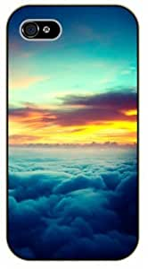 iPhone 5 / 5s Sunset above the clouds - black plastic case / Nature, Animals, Places Series, sky hjbrhga1544