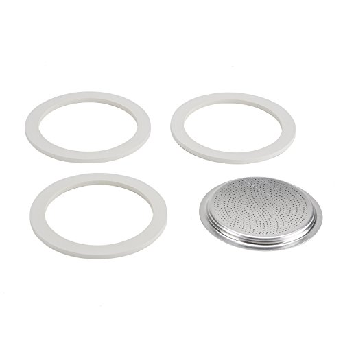 Bialetti 06602 Moka 9-Cup Gasket/Filter Replacement Parts by Bialetti