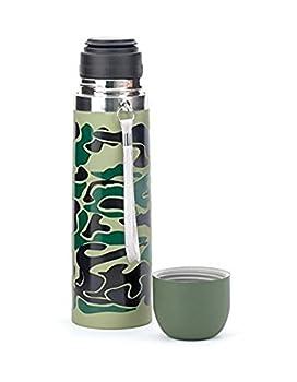 Kikkerland Camouflage Bottle, Large, Green