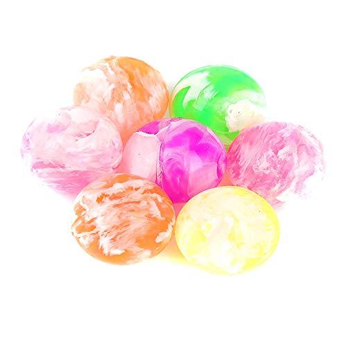 Fun Central AZ949, 48 Pieces, 0.75 Inches Assorted Neon Bouncing Balls Bulk Kit for Kids, Bulk Bouncy Ball, Rubber Swirl Bouncing Balls, High Bouncing Balls (Ball Balls Neon Pit)