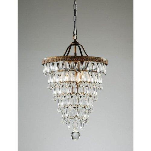 Cone Shape 4-light Antique Copper Crystal Chandelier - Antique Chandeliers: Amazon.com