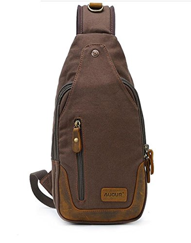Adjustable Pinchu Coffee Outdoor Lightweight Backpack Shoulder Bag College Durable Chest Men rfw0qAr