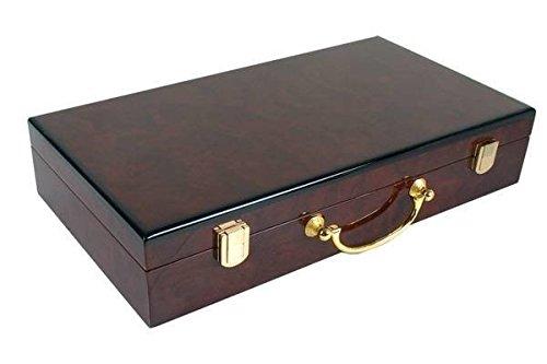 Plain High Gloss Wooden Poker Case