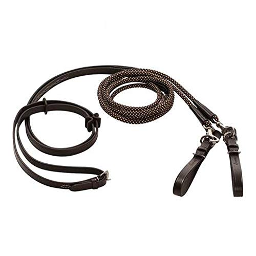 GYJ Laced Leather reins for Horse Bridle Equestrian Sports Durable Adjustable Rope Mexican Style Quality (One ()